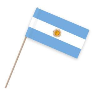 Argentinien Papierfahne Holzstab