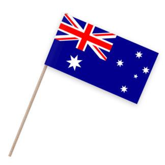 Australien Papierfähnchen Holzstab