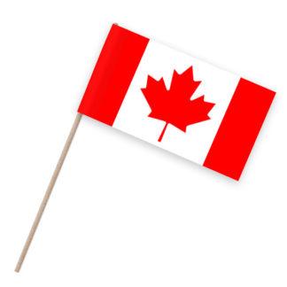 Kanada Papierfähnchen Holzstab