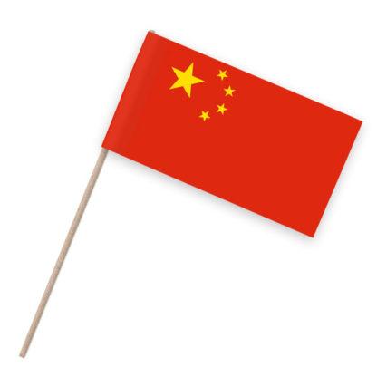 China Papierfähnchen Holzstab