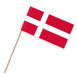 Papierfahnen auf Holzstab mit Dänemark als Motiv