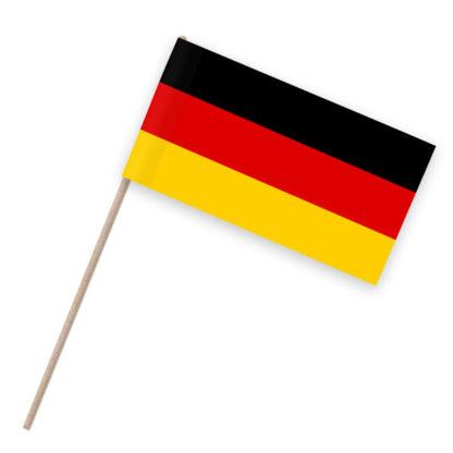 Papierfahnen auf Holzstab mit Deutschland als Motiv