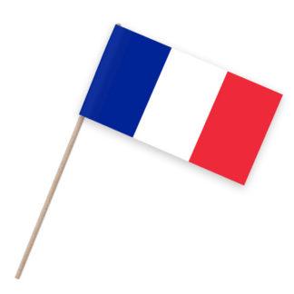 Frankreich Papierfähnchen Holz-Stab