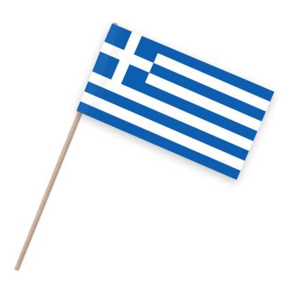 Griechenland Papierfähnchen Holzstab