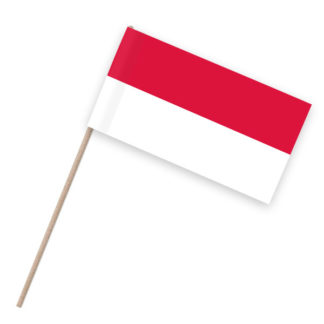 Indonesien Papierfahnen Holzstab