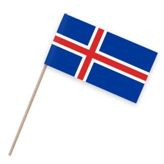 Island Papierfähnchen Holzstab