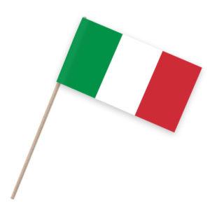 Italien Papierfähnchen Holzstab