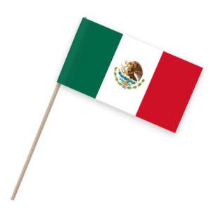 Mexiko Papierfähnchen Holzstab