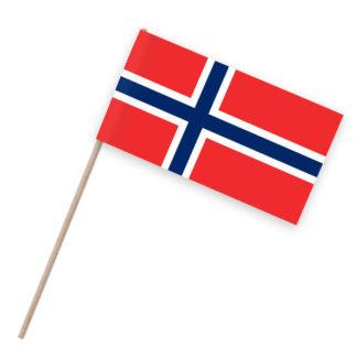 Norwegen Papierfähnchen Holzstab