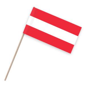 Österreich Papierfähnchen Holzstab