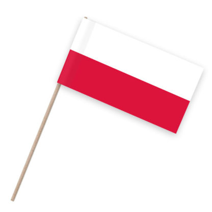 Polen Papierfähnchen Holzstab