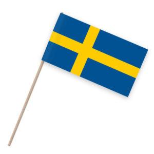 Schweden Papierfähnchen Holzstab