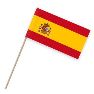 Spanien Papierfähnchen Holzstab