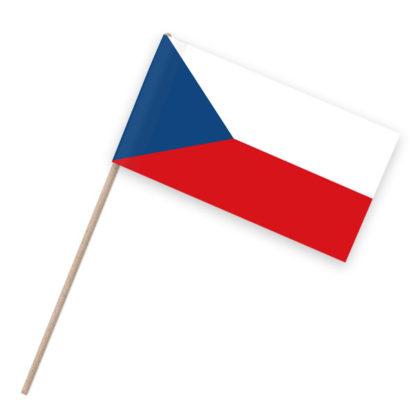 Tschechien Papierfähnchen Holzstab