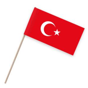 Türkei Papierfahnen Holzstab