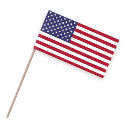 USA Papierfähnchen Holzstab