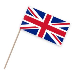 Vereinigtes Königreich Papierfähnchen Holzstab